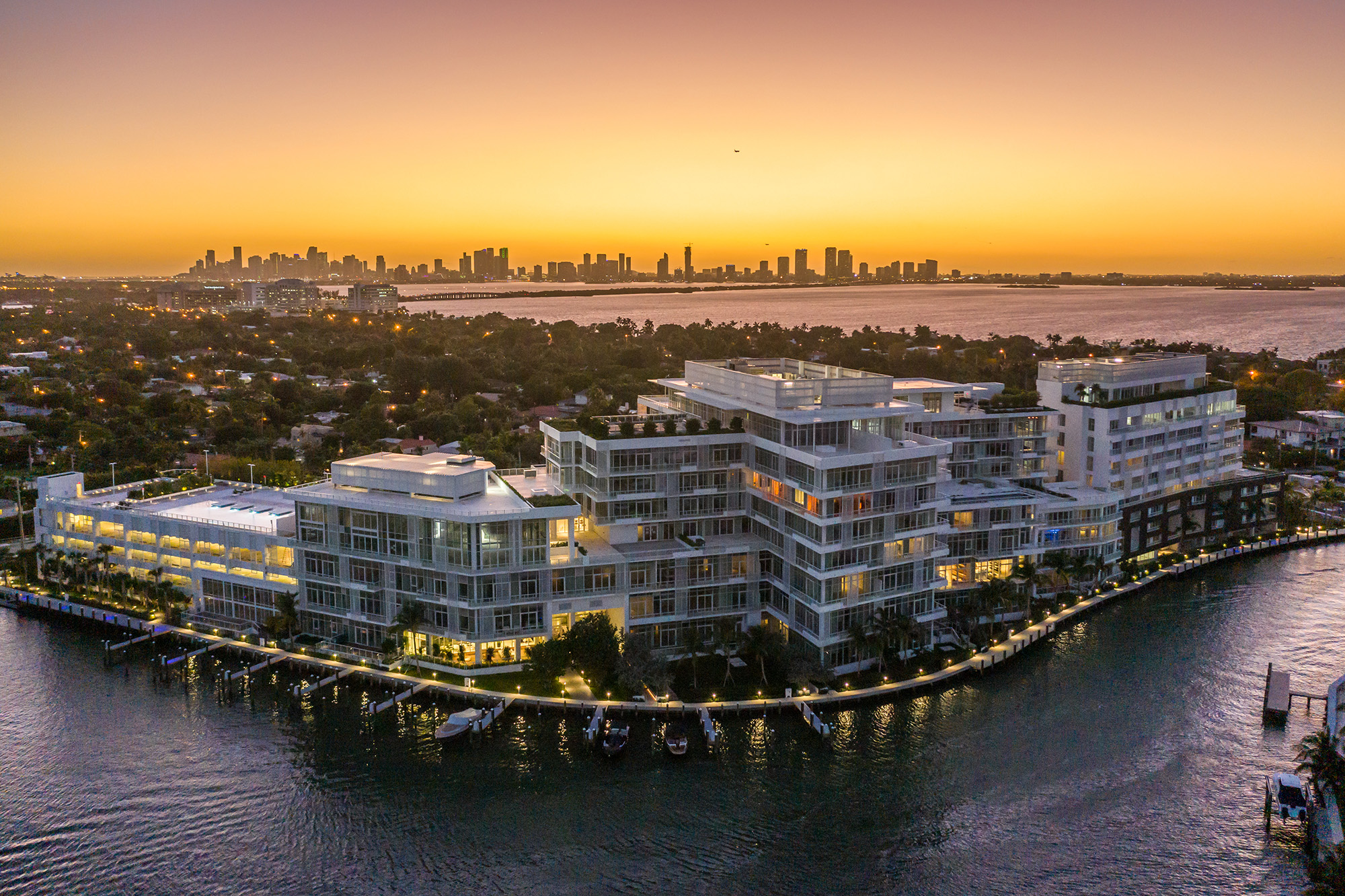 The Ritz-Carlton Residences Miami Beach At Dusk